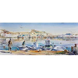 Watercolor 79- Port of Almeria