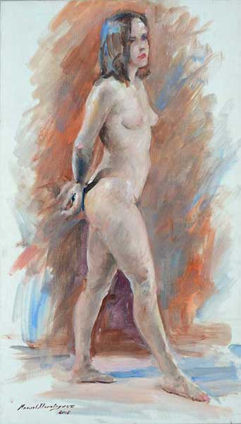 oil painting. nude woman 2